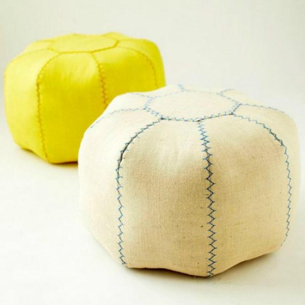 Diy moroccan style pouf 2