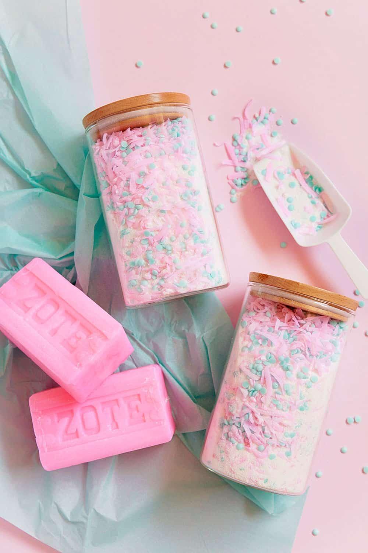 Diy pink laundry detergent