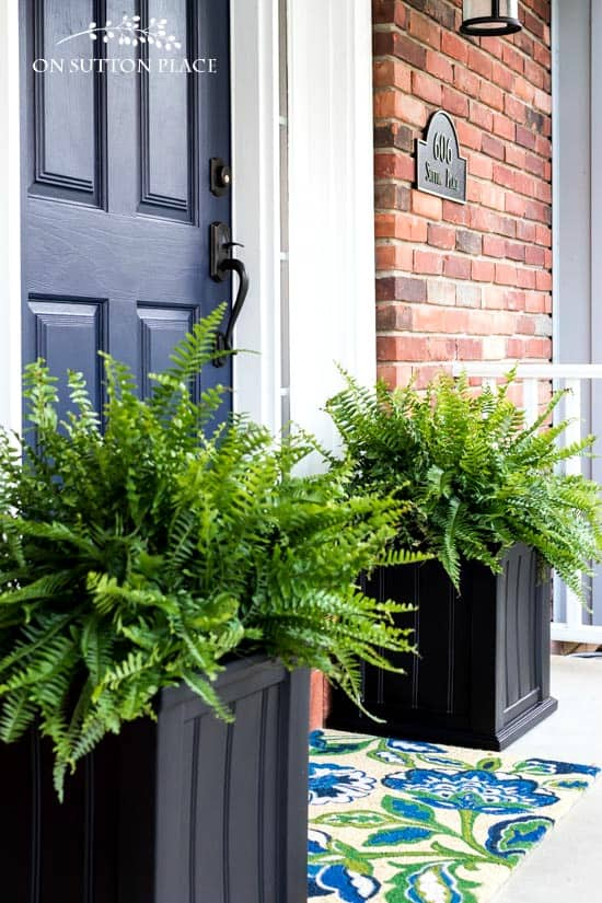 Diy pretty front door planters