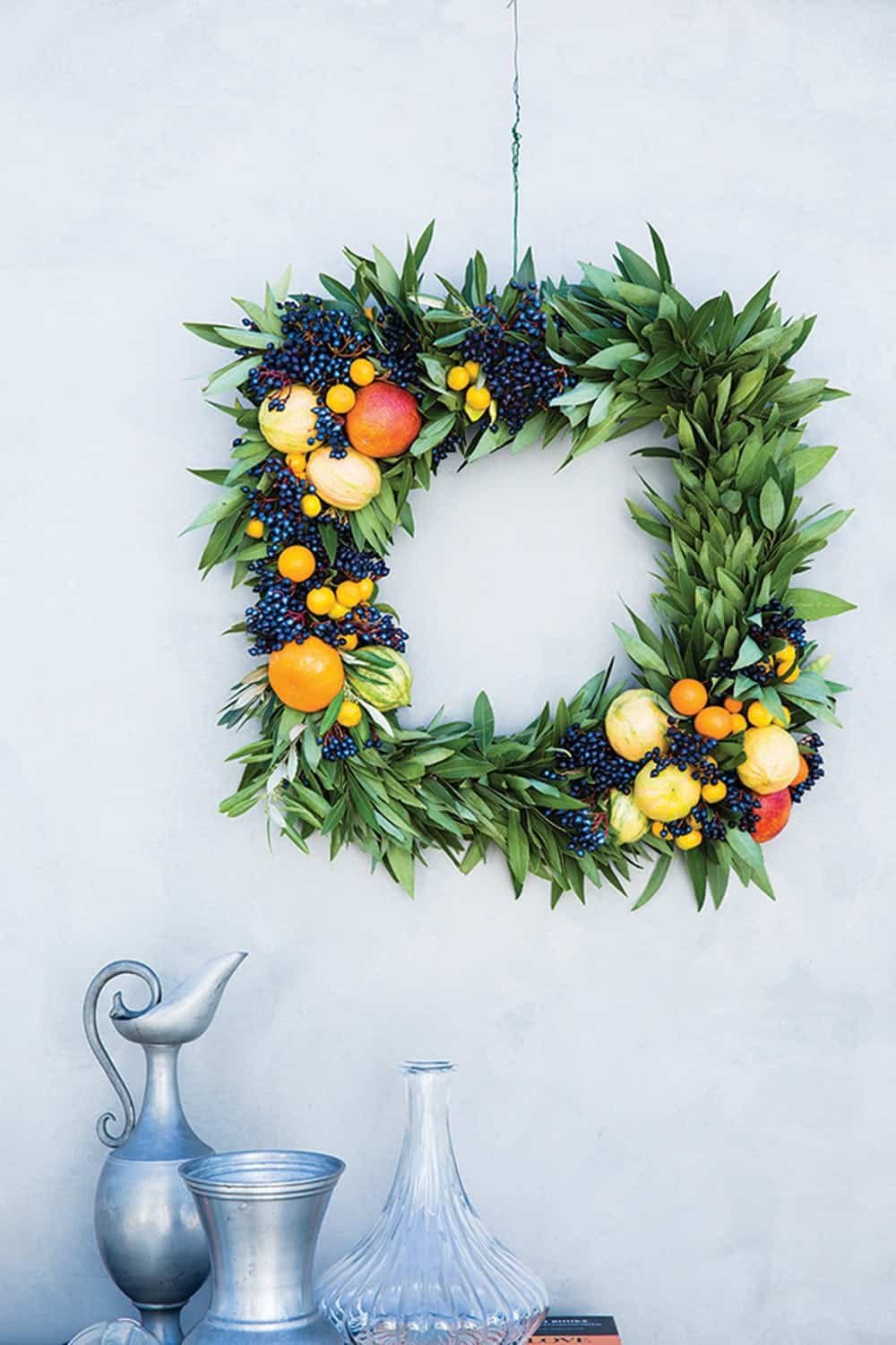 Diy real citrus wreath