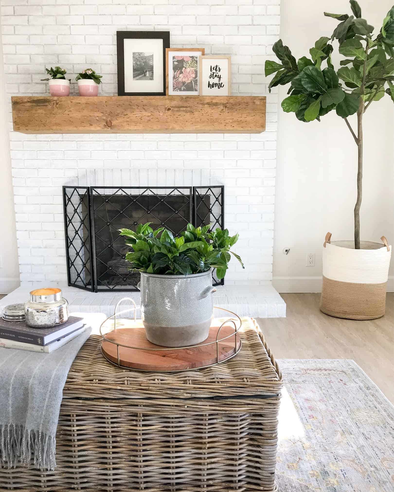 Diy rustic floating mantel
