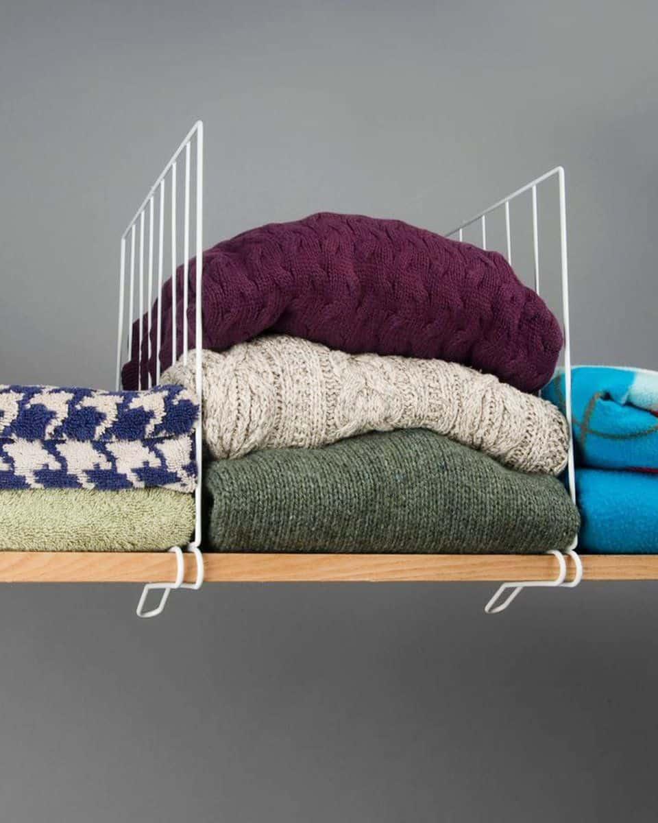 Diy shelf dividers