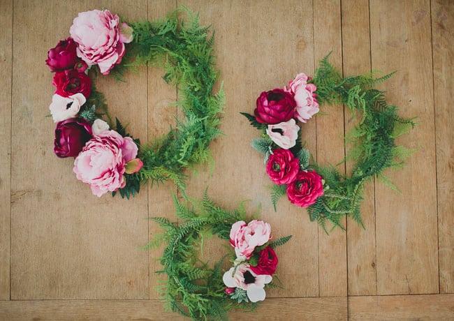 Diy silk floral wreaths