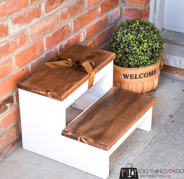 Diy simple step stool
