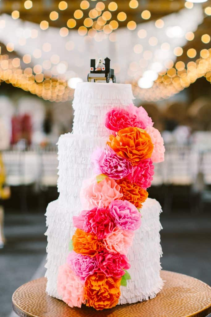 Diy wedding pinata cake