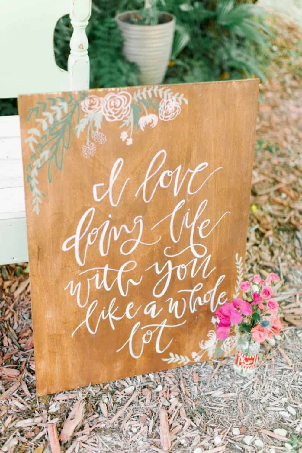 Diy wooden wedding signs
