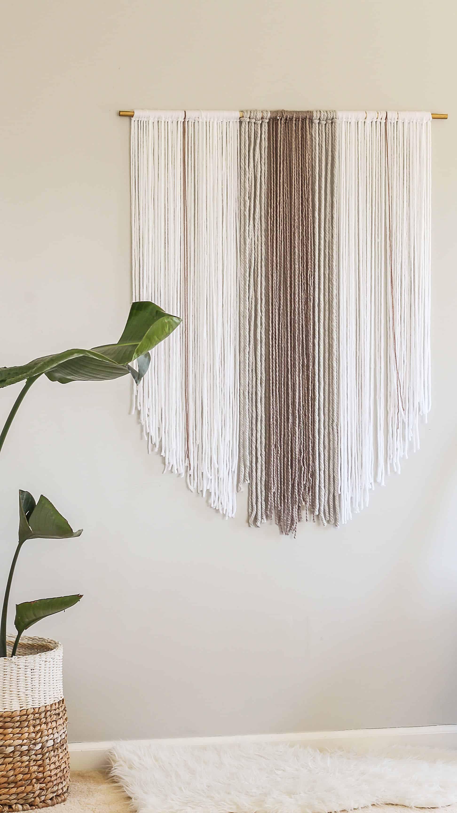 Diy yarn boho hanging
