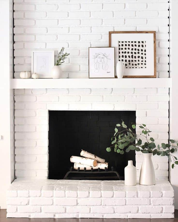 Framed mantel decor