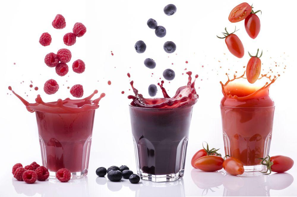 Freezing fruit juice ice cubes