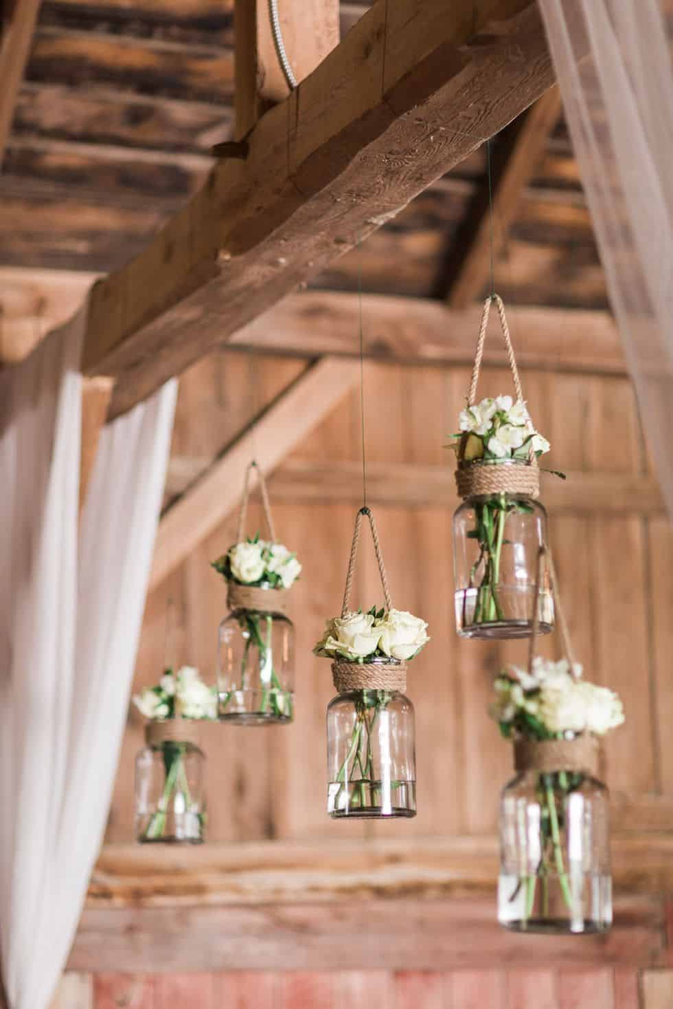 Hanging jar vases diy