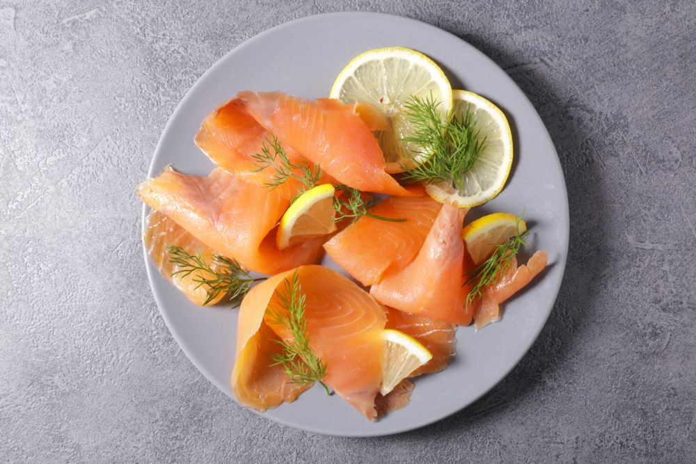 How to freeze smoked salmon slicing