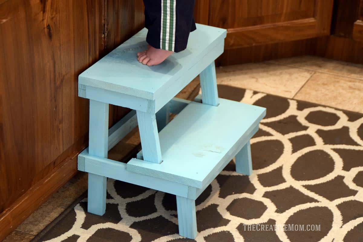 Rustic diy step stool