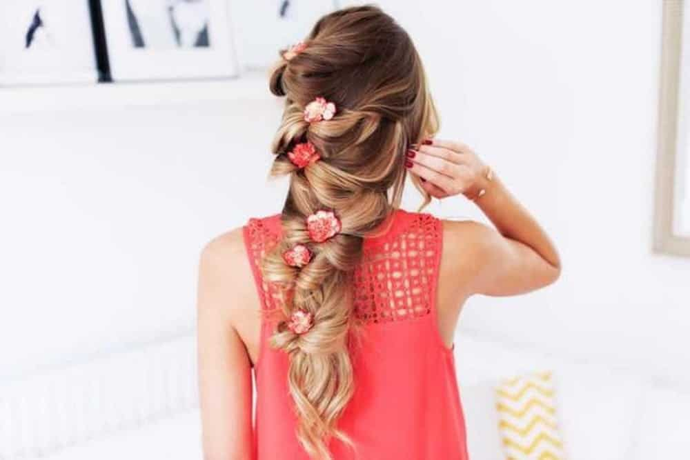 Zane jurjane floral braid for wedding