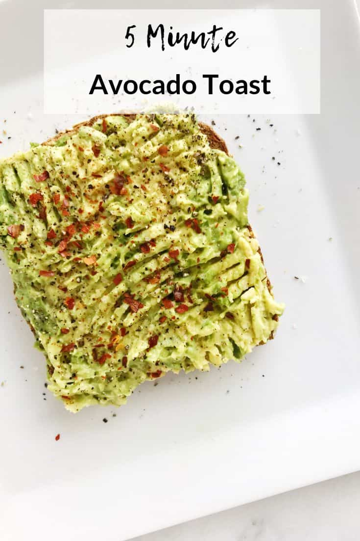 5 minute avocado toast recipe