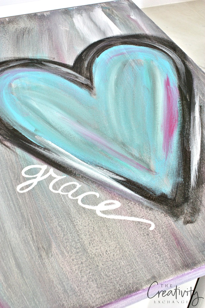 نقاشی انتزاعی قلب