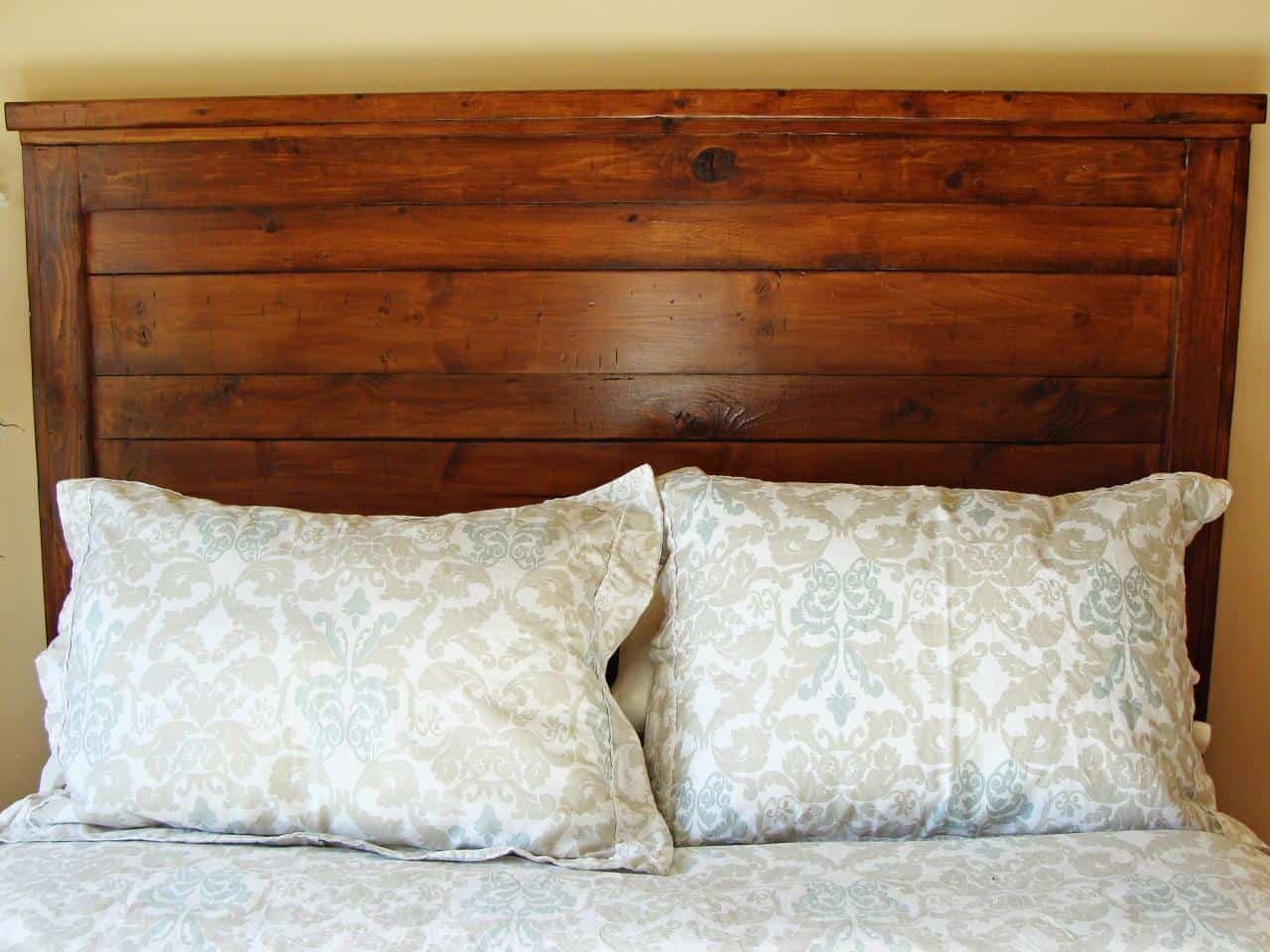 Basic wooden framed headboard