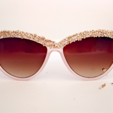 Bead embellished sunglasses