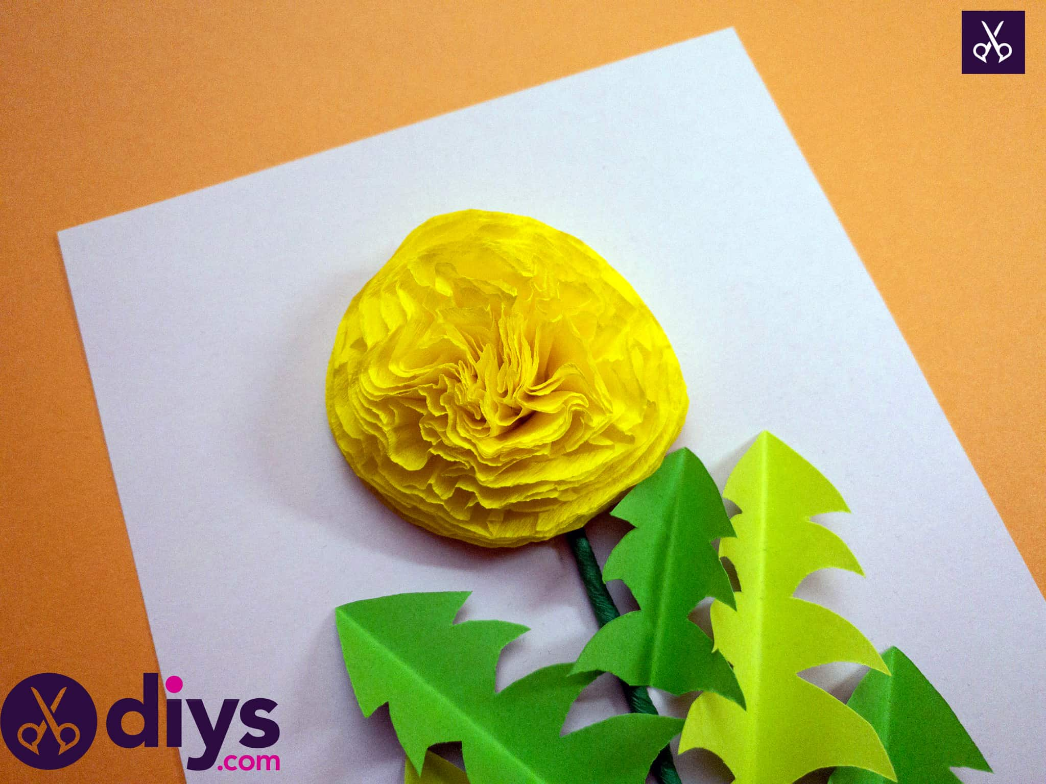 Beautiful how to make a crepe paper flower