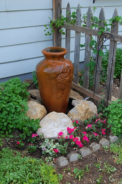 Ceramic urn water feature