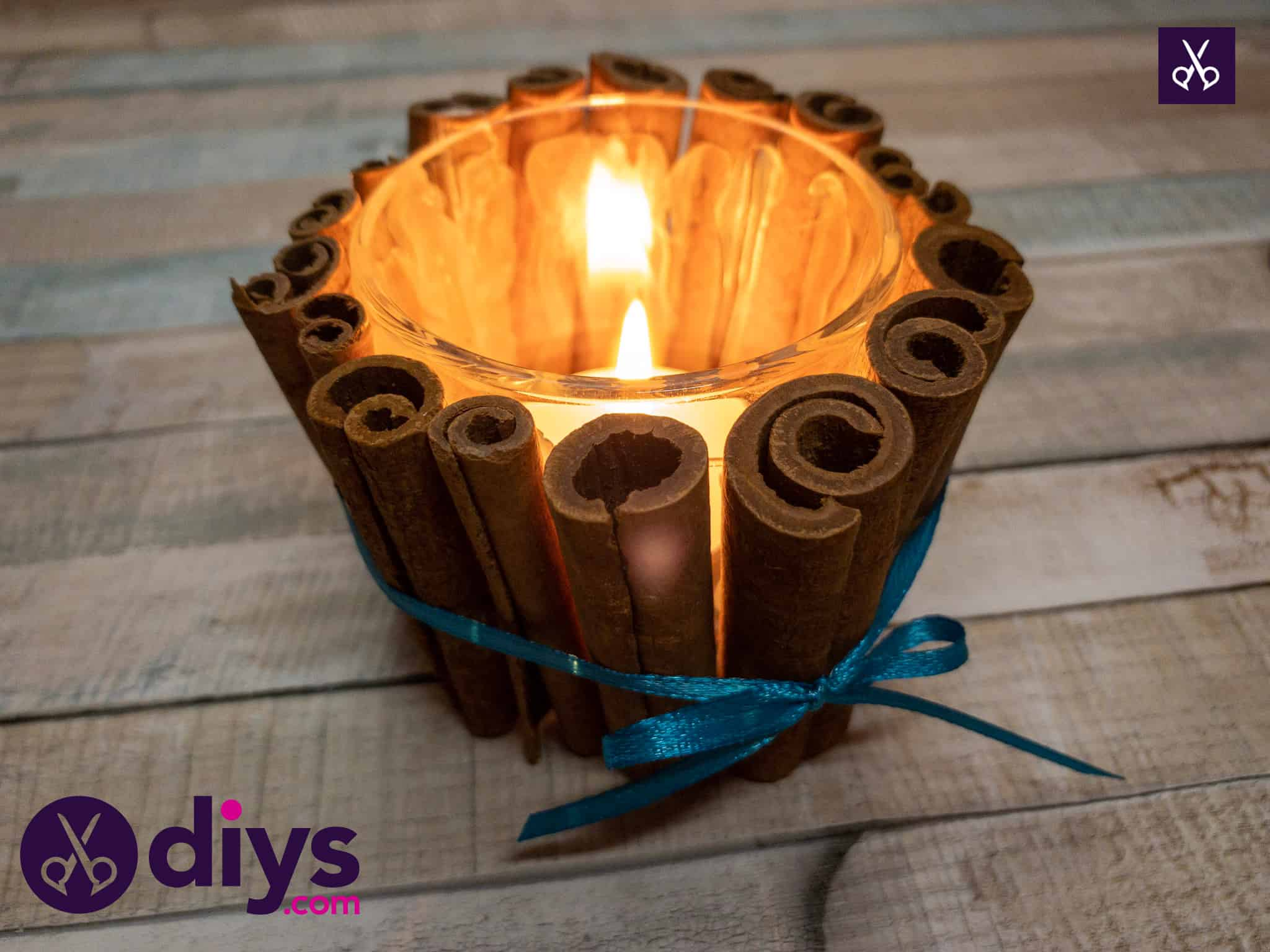 How to Make A Cinnamon Stick Candle Holder