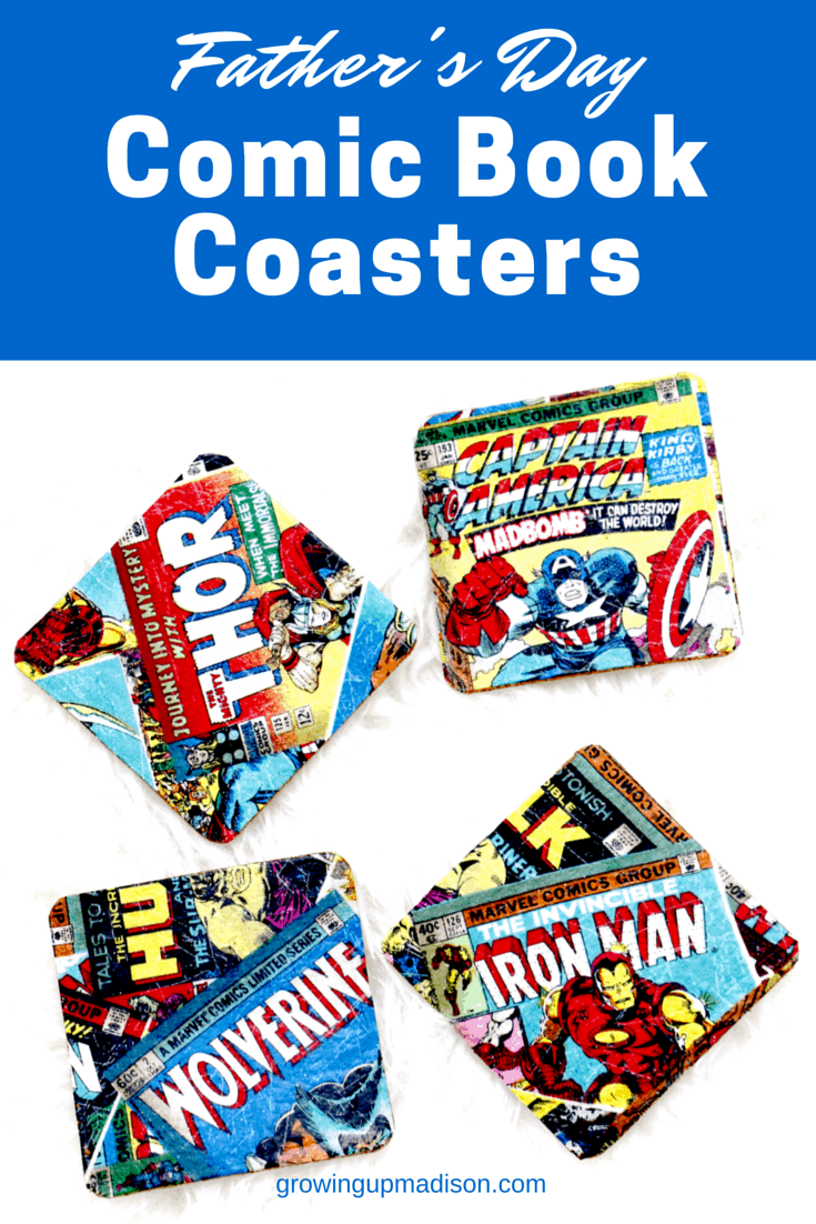 Comic book coastersa
