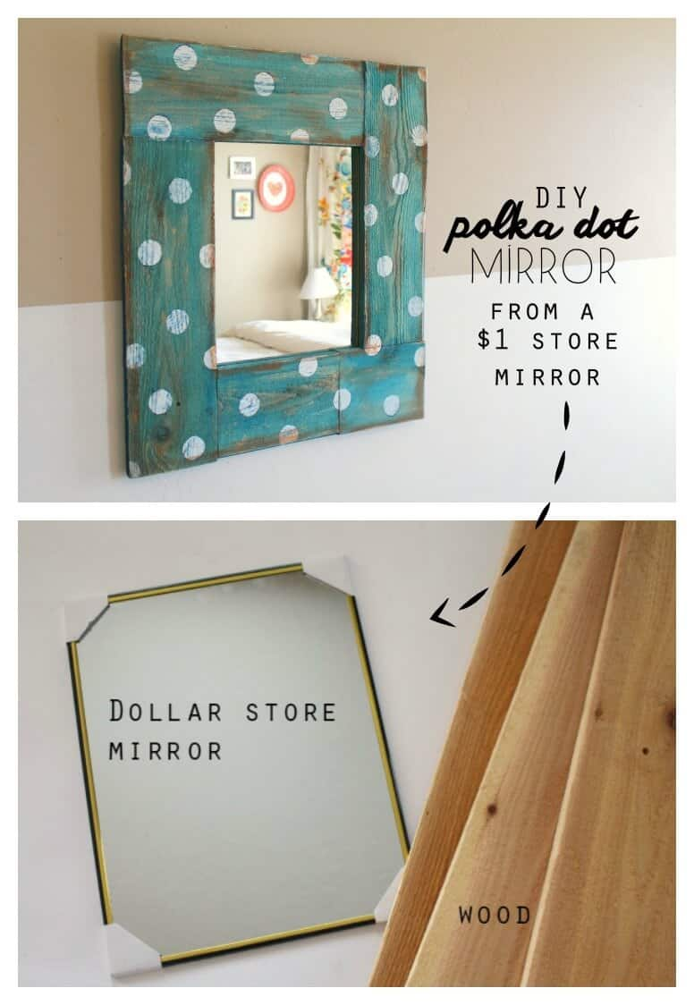 Cute rustic polka dot mirror