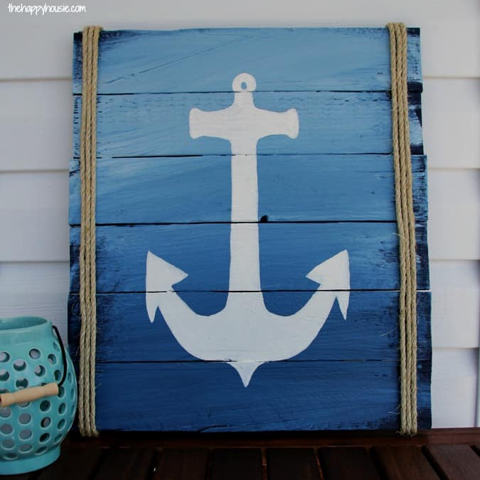 Diy anchor pallet sign
