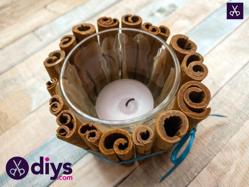 Diy cinnamon stick candle holder
