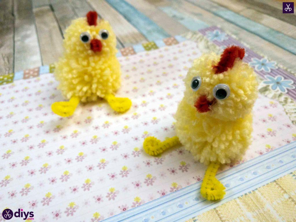 Diy how to make a pom pom chick