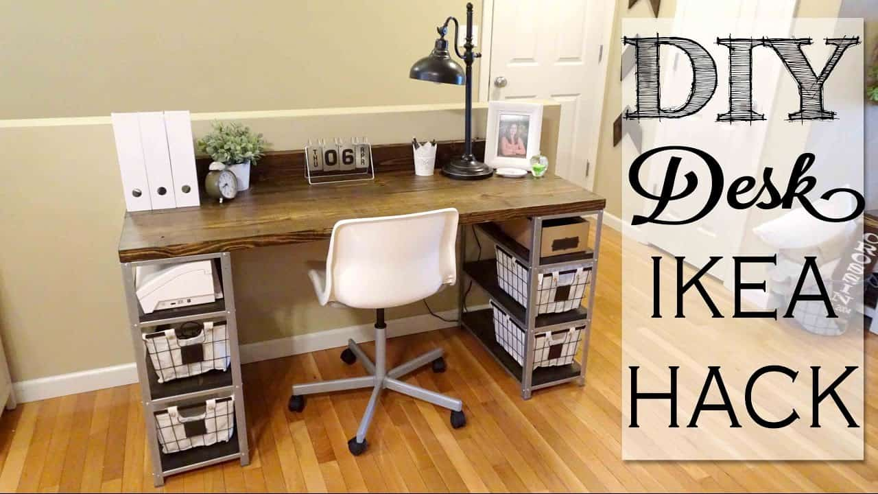 Diy ikea hack desk
