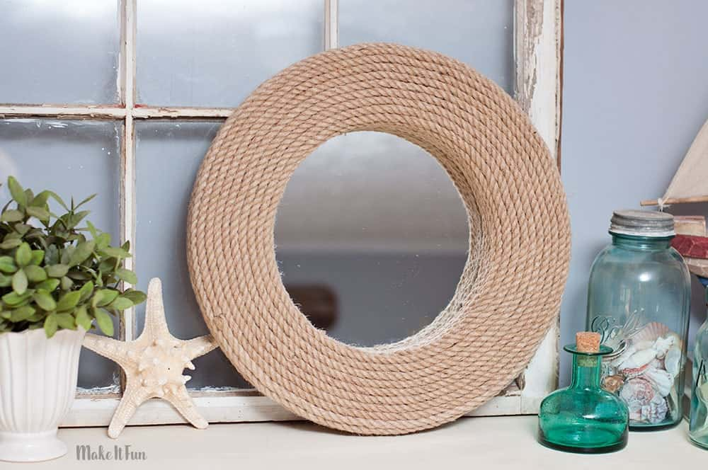 Diy rope mirror with foam