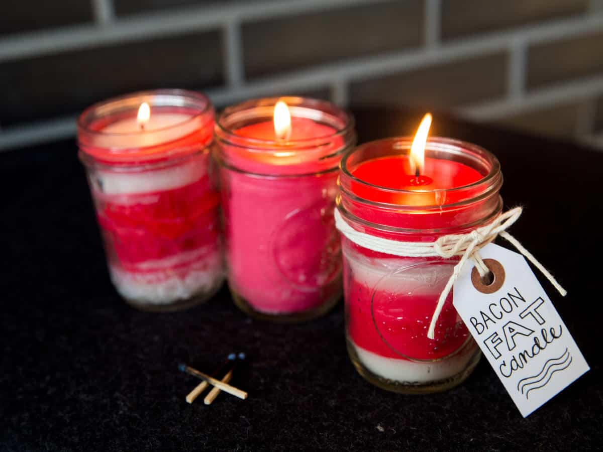 Diy bacon fat candles (that actually smell like bacon)