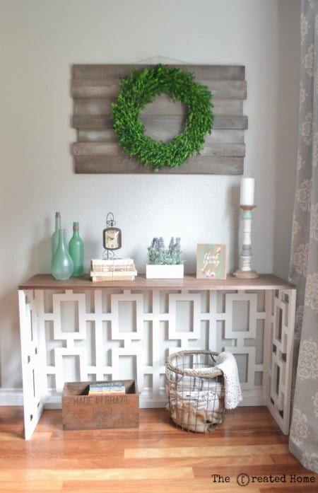 Diy fretwork entry table