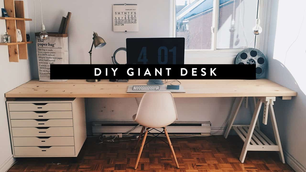 Diy giant wooden desk
