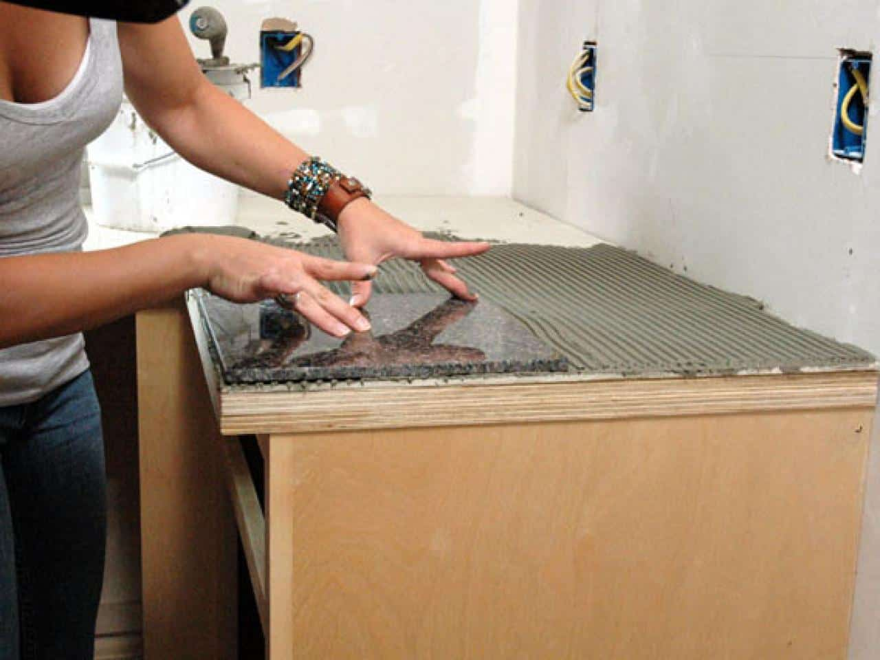 Diy granite tile kitchen countertops