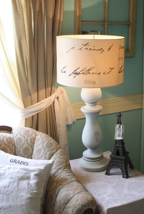 Diy love letter lamp