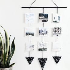 Diy photo and triangle wall hanging