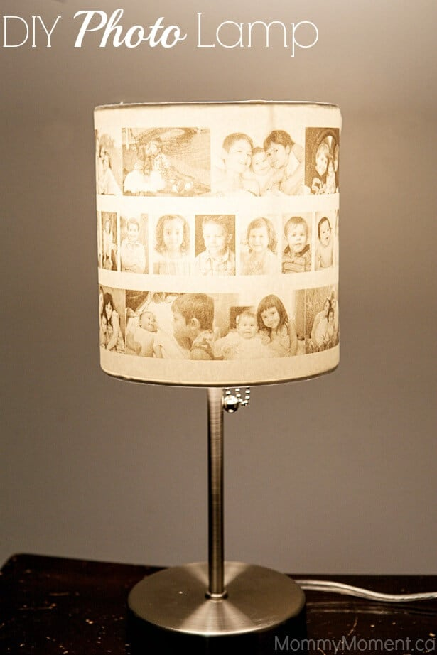 Diy photo lampshade