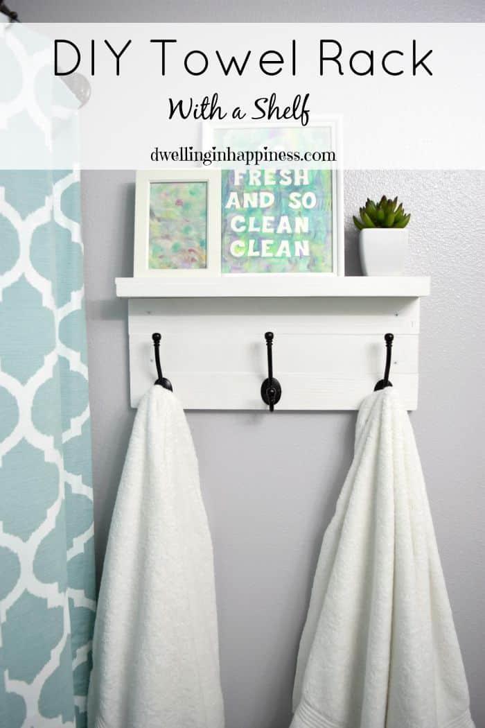 Diy towel rack shelf