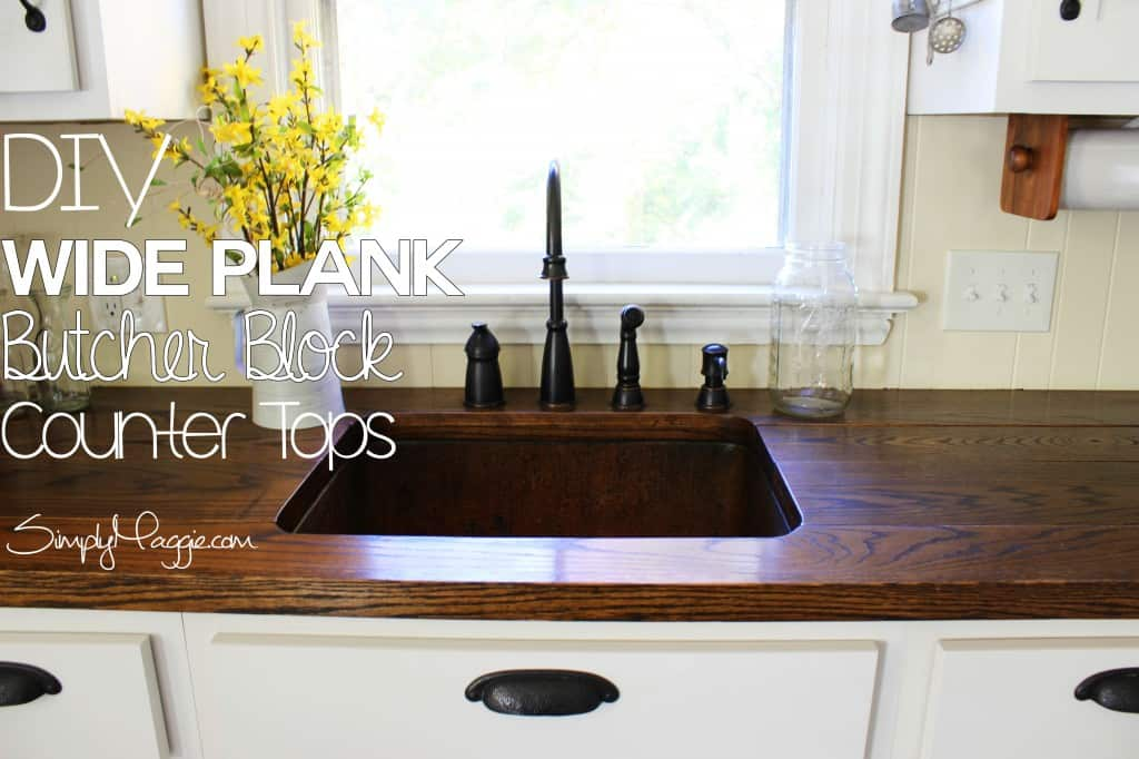 Diy wide plank butcher block countertops