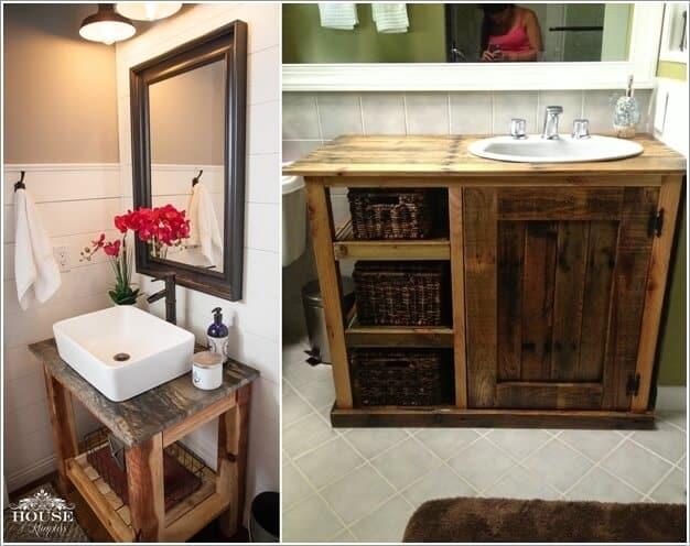 Diy wooden bathroom vanity