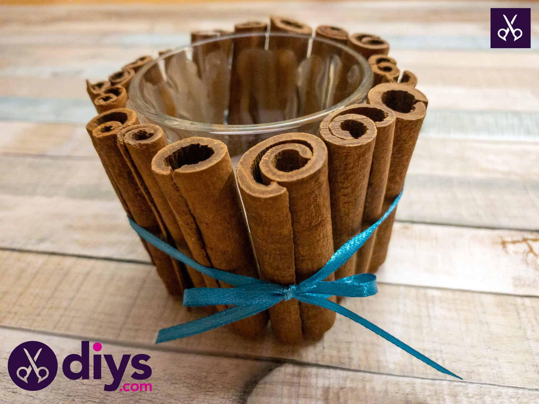 Easy diy cinnamon stick candle holder