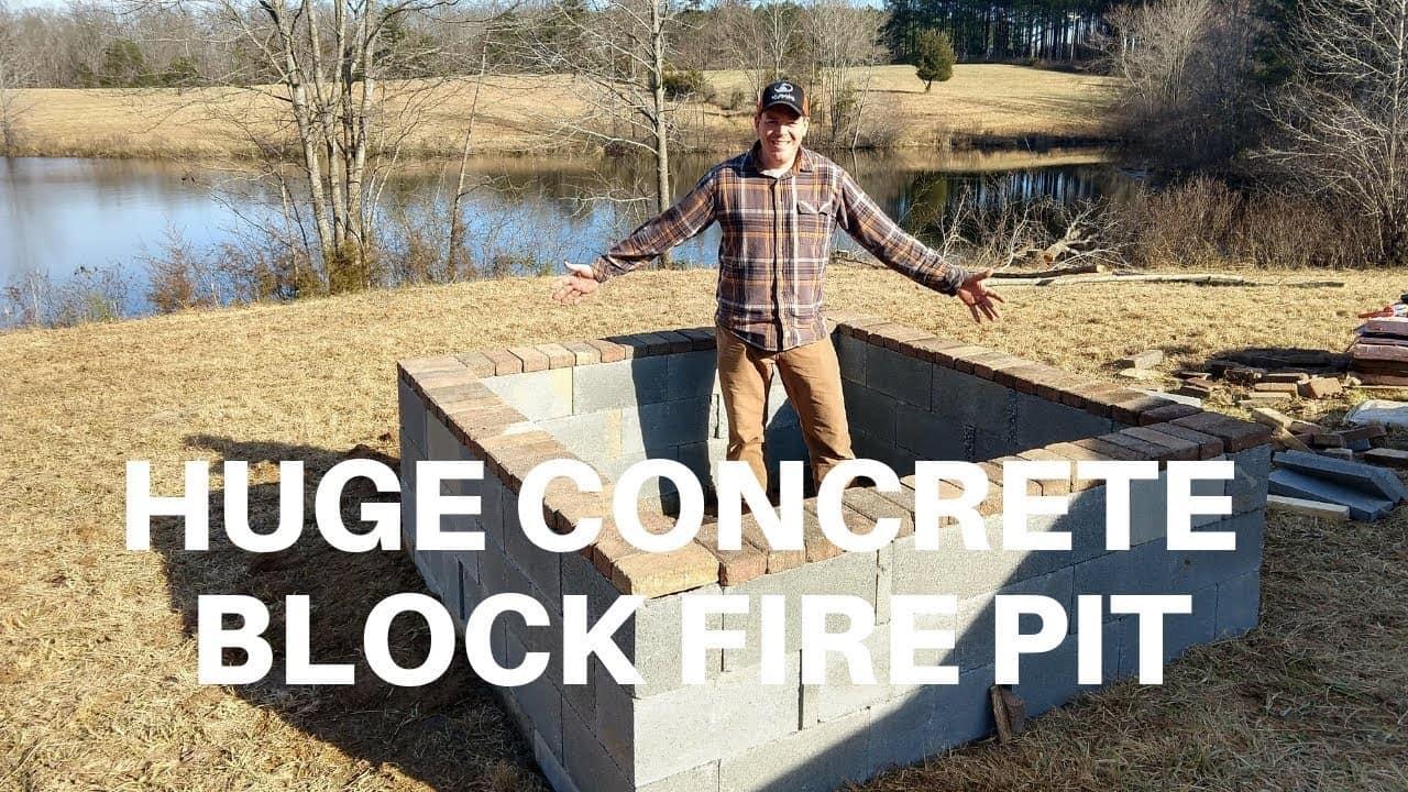 Extra, extra large cinder block firepit