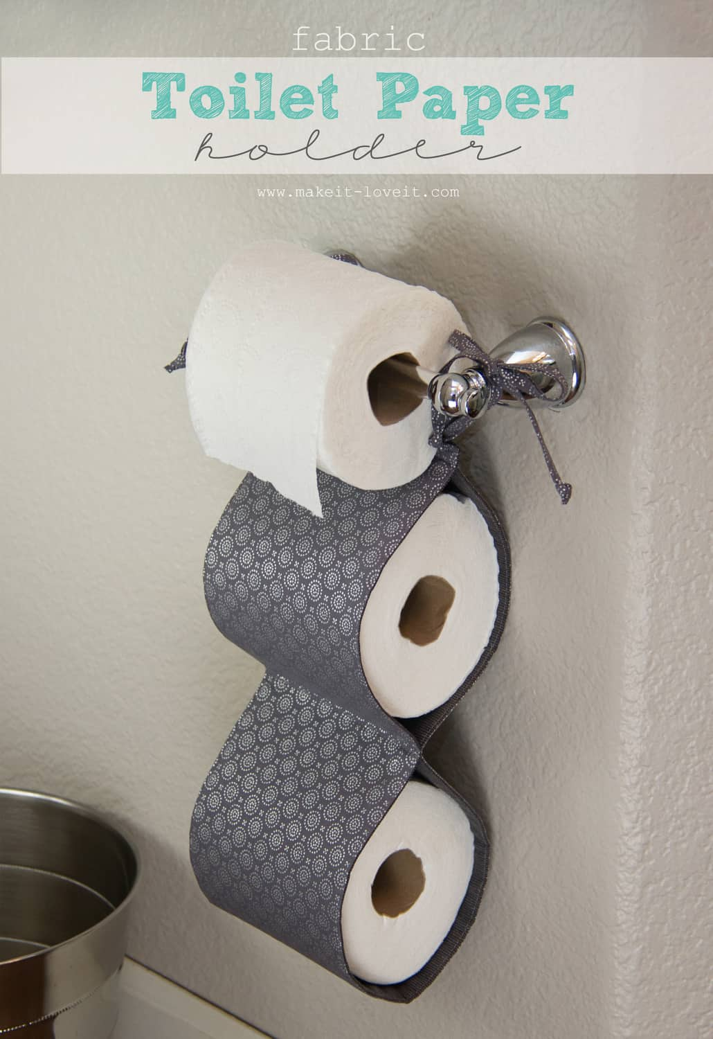Fabric toilet paper holder
