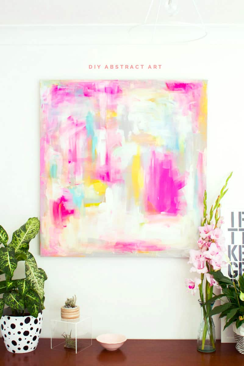 Fall for diy abstract art