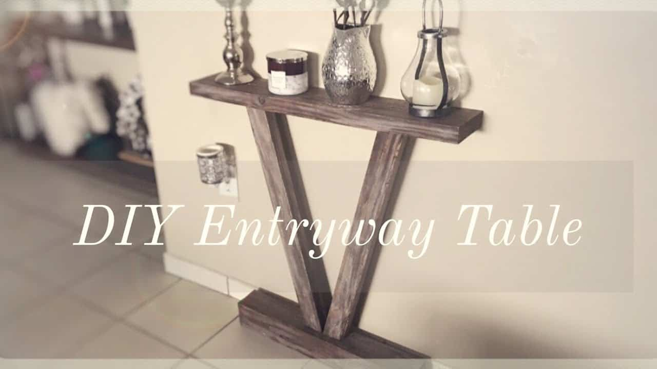 Flattened rustic entry table