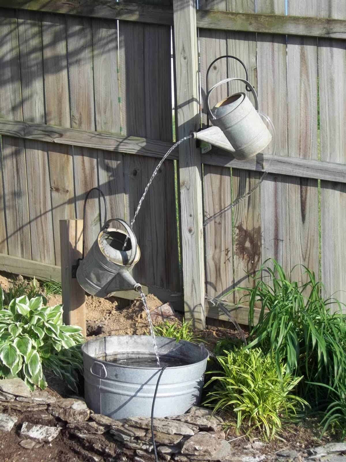 Floating watering cans feature