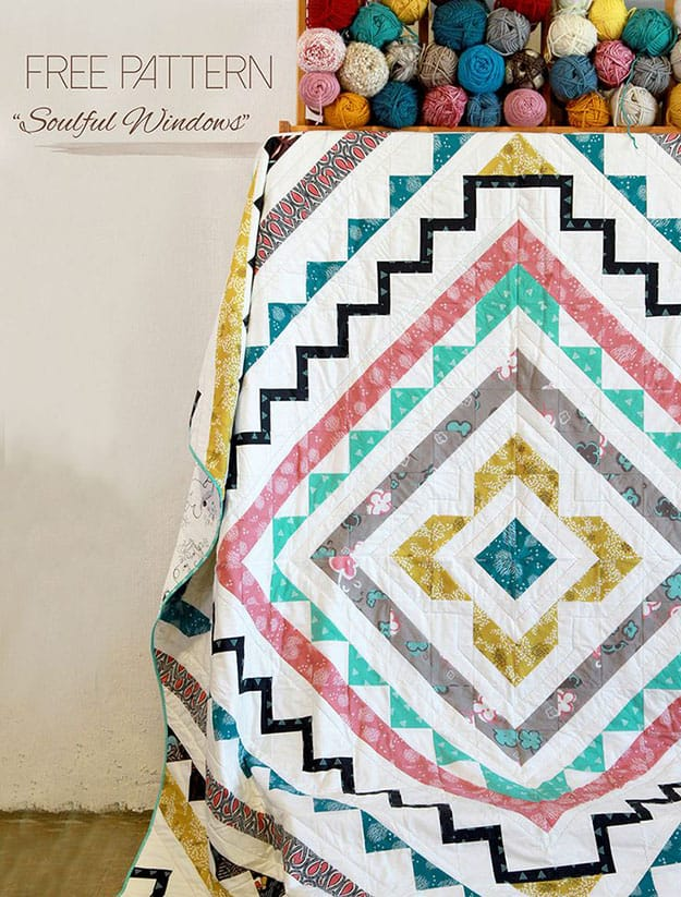 Free patterns geometric quilt tutorial