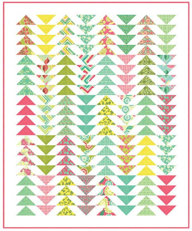 Free quilt pattern flying geese