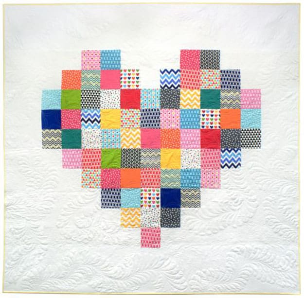 Free quilt pattern heart quilt
